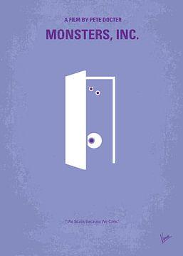 No161 My Monster Inc minimal movie poster van Chungkong Art