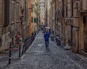 Schöne Straßenszene aus Rom von Natascha Worseling