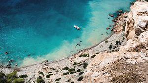 Ibiza, jacht voor de kust van Rob van Dongen