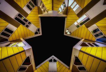 Kubistische Häuser in Rotterdam von Mario Calma