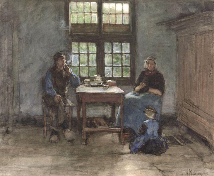 Larens binnenhuis, Anton Mauve von Meesterlijcke Meesters