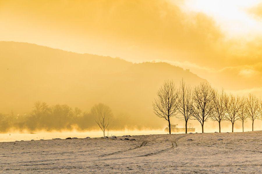 morning mist van Heinz Grates