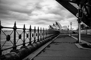 Sydney opera house in zwart-wit