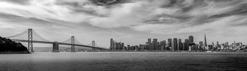 Skyline panorama van San Francisco van Toon van den Einde