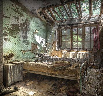Slaapkamer in verval von