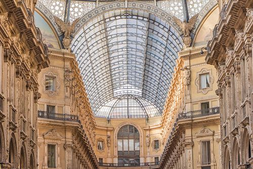 Historische winkelpassage in centrum van Milaan van