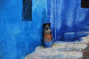 Marokko in blauw van