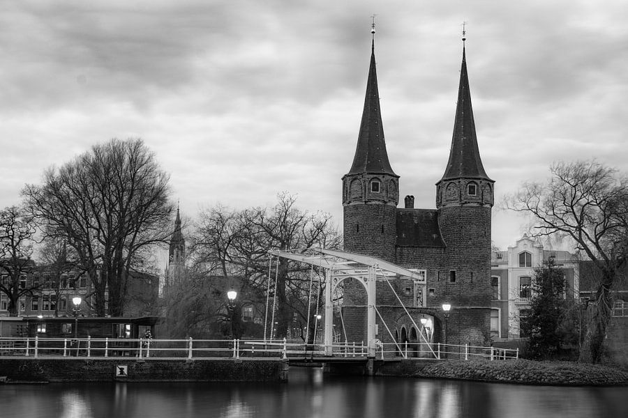 De Oostpoort in Delft, Nederland van Christa Thieme-Krus