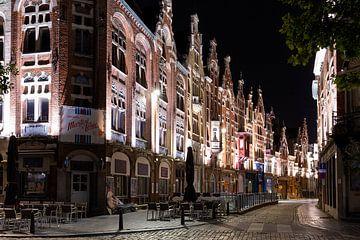 Gent Baudelostraat in einer schönen Nacht von Erik Vergunst