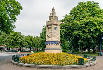 Nassau Baronie monument in de Nederlandse stad Breda van Ruud Morijn