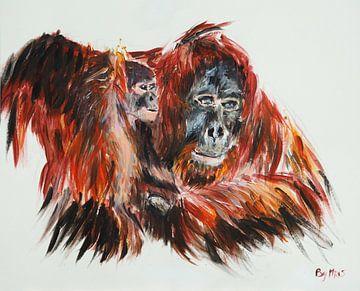 Orang-Utan mit Baby von Eye to Eye Xperience By Mris & Fred