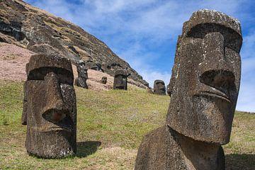 Moai auf der Osterinsel von Erwin Blekkenhorst