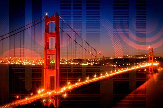 Golden Gate Bridge | Geometric Mix No.1 van Melanie Viola