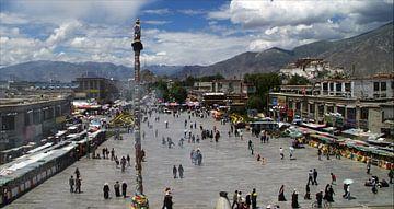 La place Barkhor au Tibet sur Gert-Jan Siesling