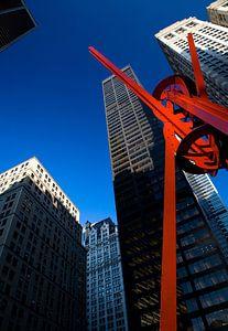 New York Red Steel Sculpture