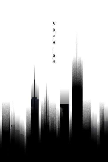 Grafische Kunst Skyhigh | wit  (gezien bij vtwonen)