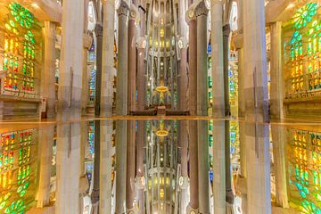 Sagrada Familia, Gaudi in Barcelona, Spanien von Maarten Hoek