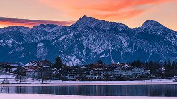 Dageraad bij Hopfen am See, Beieren, Duitsland