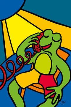 Frosch auf dem Handy von ART Eva Maria