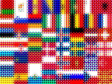 Vlaggen van Europa 4: rasterpatroon van