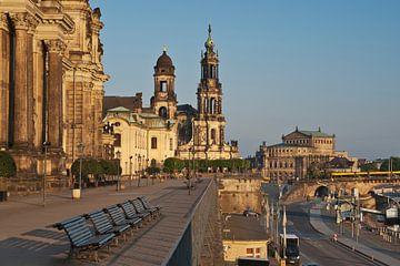 Bruehls Terrace, Dresden van Gunter Kirsch