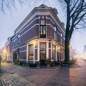 Hoek Breestraat en Tuchthuisstraat Haarlem.