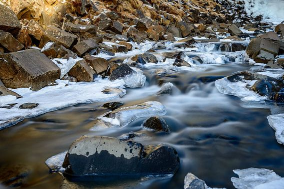 Svartifoss waterval van Sander Peters Fotografie