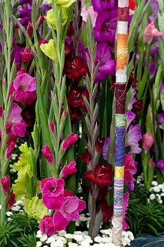 Gladiolen bloemstuk von Patricia Verbruggen