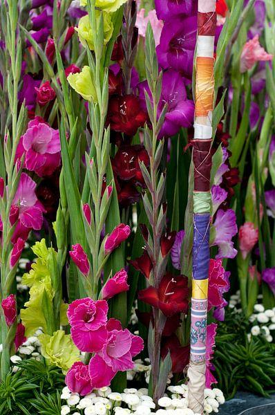 Gladiolen bloemstuk