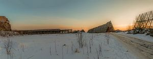 Zonsondergang Svolvaer Noorwegen
