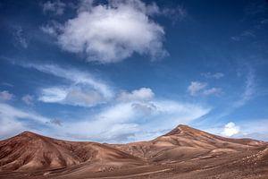 Het landschap in het zuiden van Lanzarote nabij Quemada