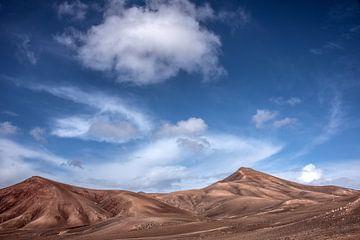 Het landschap in het zuiden van Lanzarote nabij Quemada sur