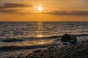 Sonnenuntergang an der Küste der Ostsee