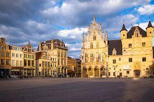 De gebouwen aan de Markt in Mechelen
