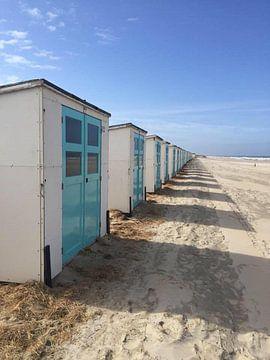 Strandhuisjes texel  van Rowan  van den Heuvel