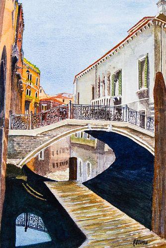 Lente in Venetië, aquarel
