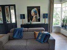 Klantfoto: Meisje met parel - Meisje van Vermeer - Schilderij (HQ), op acrylglas