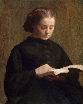 Porträt von Mademoiselle Marie Fantin-Latour, Henri Fantin-Latour