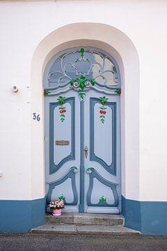 Sierlijke oude deur , Oude Stad, Lübeck, Sleeswijk-Holstein, Duitsland, Europa van Torsten Krüger