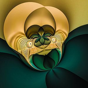 Phantasievolle abstrakte Twirl-Illustration 95/11