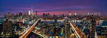 Skyline von Manhattan während der schönen Sonnenuntergang, Thomas D Mørkeberg von 1x