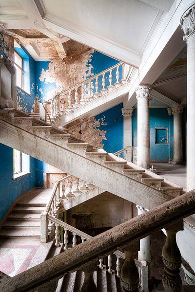 Verlaten Blauwe Trap. van Roman Robroek