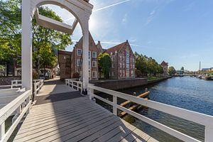 Pelserbrugje en Thorbeckegracht van Edo Koch