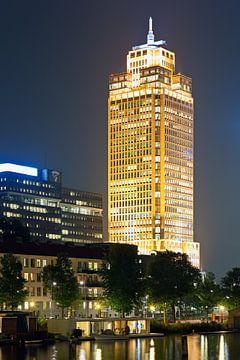 Nacht Foto Rembrandt Turm in Amsterdam
