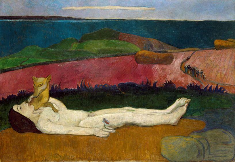 The Loss of Virginity, Paul Gauguin von Meesterlijcke Meesters