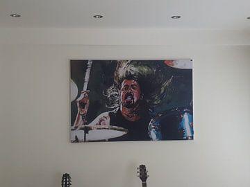 Klantfoto: Dave Grohl schilderij van Jos Hoppenbrouwers