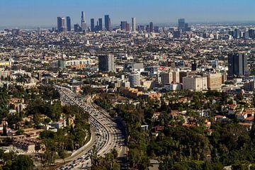 Vue du centre-ville de Los Angeles sur Easycopters