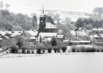 Eys in de sneeuw van MSP Canvas