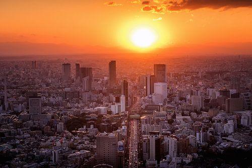 Tokyo Sunset von Sander Peters Fotografie