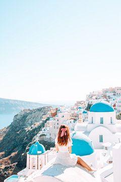 Santorini, een prachtig uitzicht op het eiland in Griekenland van Dymphe Mensink